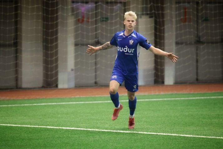Ágúst Eðvald skoraði tvö mörk í 3-1 sigri FH gegn HK í gærkvöld.