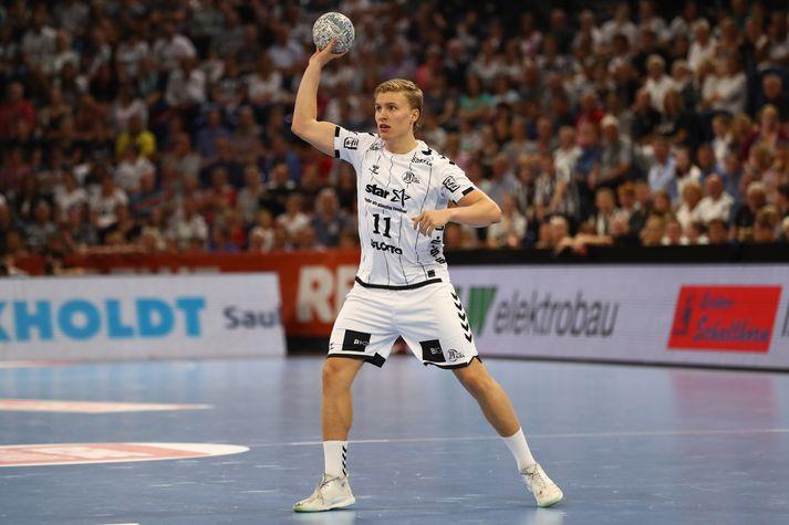 Gísli Þorgeir skoraði 34. og síðasta mark Kiel gegn Bergischer.