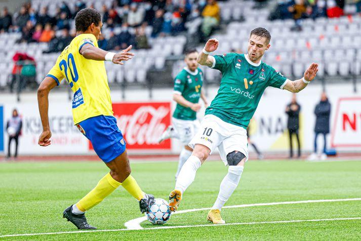 Árni Vilhjálmsson skoraði seinna mark Breiðabliks í 2-0 sigri á KA.