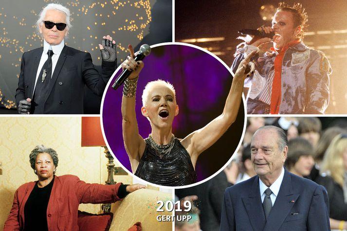 Karl Lagerfeld, Marie Fredriksson, Keith Flint, Toni Morrison og Jacques Chirac eru meðal þeirra sem létust á árinu.