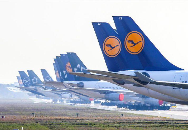 Yfirstjórn flugfélagsins Lufthansa segist ekki geta samþykkt skilyrði Evrópusambandsins við björgunarpakka þýskra stjórnvalda.
