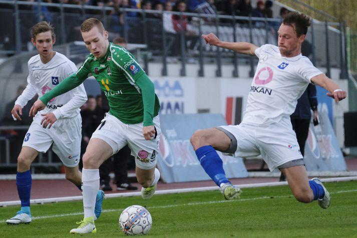 Gísli Eyjólfsson skoraði frábært mark fyrir Blika í kvöld.