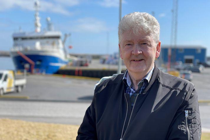 Gunnar Tómasson, framkvæmdastjóri Þorbjarnar hf., við Grindavíkurhöfn í dag.