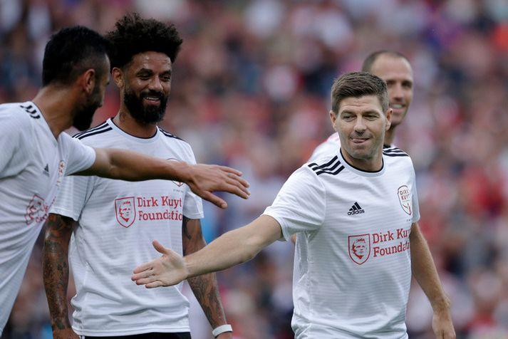Steven Gerrard í góðgerðaleik Dirk Kuyt  á dögunum.