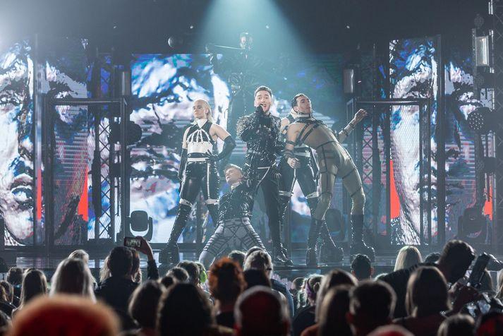 Hatari tók þátt fyrir Íslands hönd í Eurovision í Tel Aviv árið 2019.