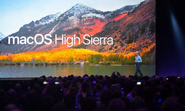 Gallinn leynist í nýjustu útgáfu MacOs High Sierra-stýrikerfis Apple.