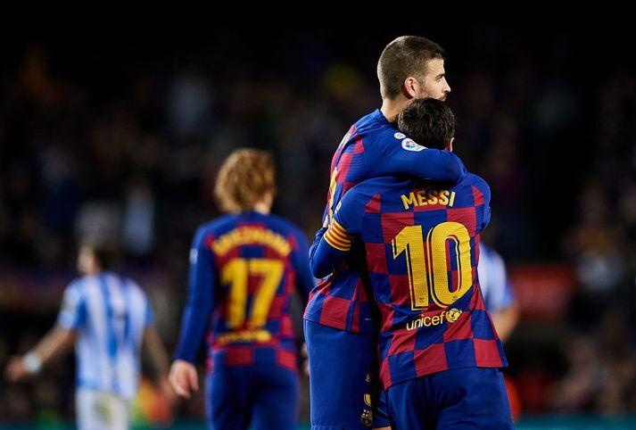 Gerard Pique, Lionel Messi.