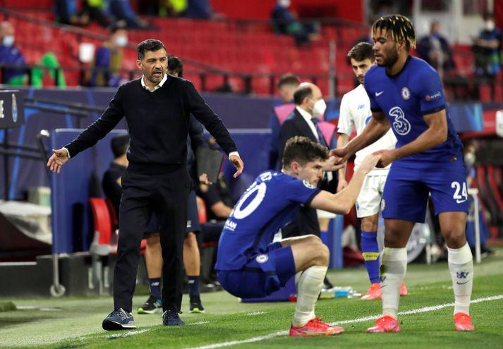 Reece James og Christian Pulisic eru komnir í undanúrslit Meistaradeildar Evrópu með Chelsea.