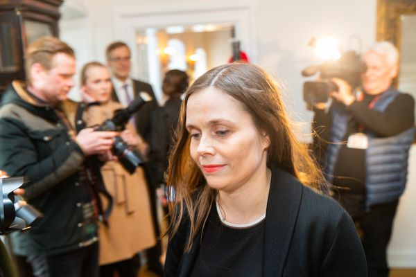 Frosti Logason ræðir við Katrínu Jakobsdóttur